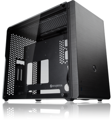 0R20B00135 3mm Ophion M EVO TGS Aluminum Retail Side Panel Computer Case, Coating Black